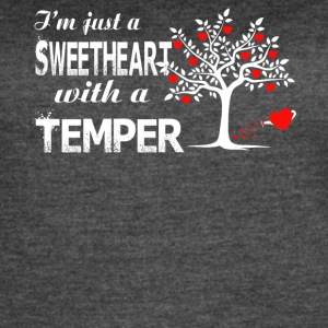 I'm Just A Sweetheart With A Temper T Shirt - Women's Vintage Sport T-Shirt