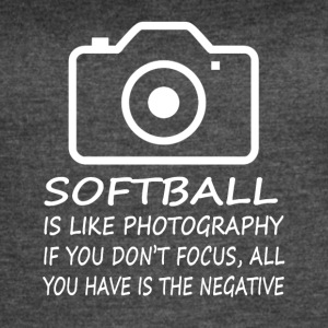 Softball Like Photography-cool shirt,geek hoodie - Women's Vintage Sport T-Shirt