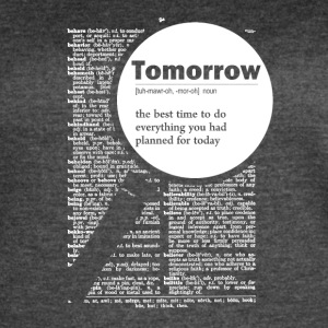 Tomorrow funny definition - Women's Vintage Sport T-Shirt