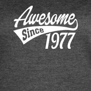 Awesome Since 1977 - Women's Vintage Sport T-Shirt