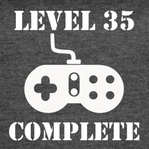 Level 35 Complete 35th Birthday - Women's Vintage Sport T-Shirt