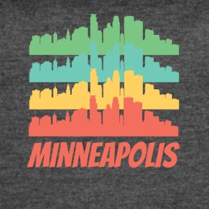 Retro Minneapolis MN Skyline Pop Art - Women's Vintage Sport T-Shirt