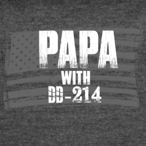 Papa with DD-214 - Women's Vintage Sport T-Shirt