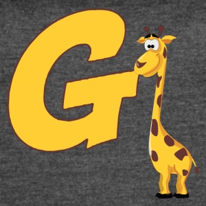 G Is For Giraffe - Women's Vintage Sport T-Shirt