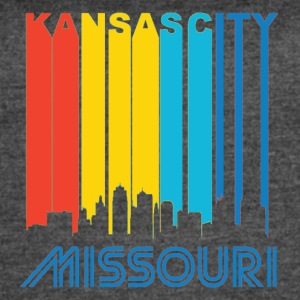 Retro Kansas City Skyline - Women's Vintage Sport T-Shirt