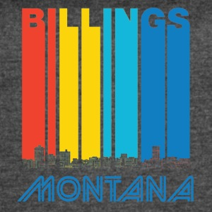 Retro Billings Montana Skyline - Women's Vintage Sport T-Shirt