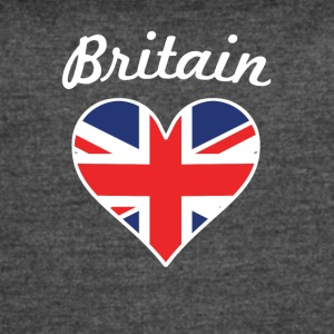Britain Flag Heart - Women's Vintage Sport T-Shirt