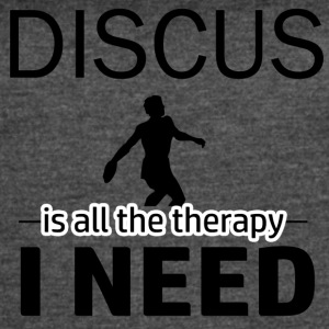 Discus is my therapy - Women's Vintage Sport T-Shirt