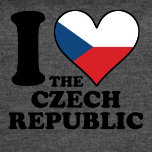 I Love the Czech Republic Czech Flag Heart - Women's Vintage Sport T-Shirt