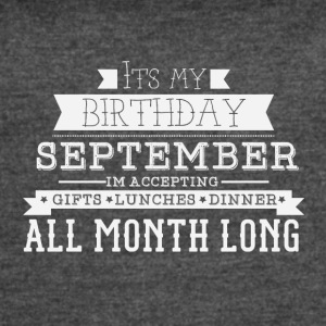SEPTEMBER its my birthday month - Women's Vintage Sport T-Shirt