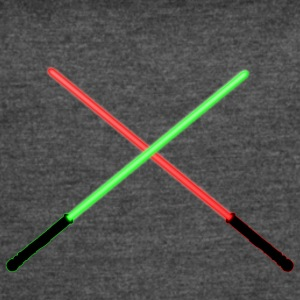 Red and Green Lightsaber Clash - Women's Vintage Sport T-Shirt