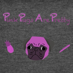 PPAP Pink Pugs Are Pretty - Women's Vintage Sport T-Shirt
