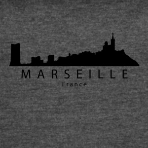 Marseille France Skyline - Women's Vintage Sport T-Shirt