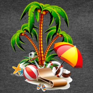 GET READY TO SUMMER - COCONUT TREE REST - Women's Vintage Sport T-Shirt