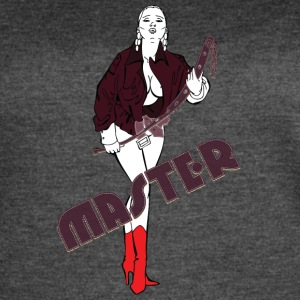 BDSM_woman_with_long_leather_Master - Women's Vintage Sport T-Shirt