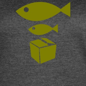 Big Fish Little Fish Cardboard Box - Women's Vintage Sport T-Shirt