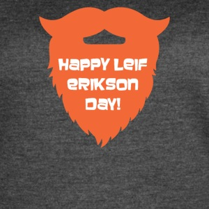Happy Leif Erikson Day Funny - Women's Vintage Sport T-Shirt