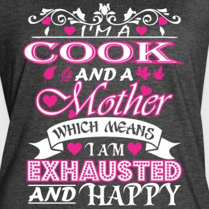Cook Mother Which Means Exhausted & Happy - Women's Vintage Sport T-Shirt