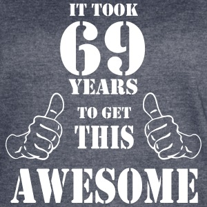 69th Birthday Get Awesome T Shirt Made in 1948 - Women's Vintage Sport T-Shirt