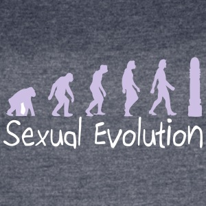 Sexual Evolution From Ape To Erect Man. - Women's Vintage Sport T-Shirt