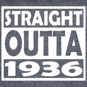 81st Birthday T Shirt Straight Outta 1936 - Women's Vintage Sport T-Shirt