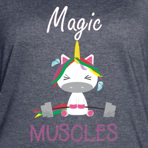 Magic Muscles - Funny unicorn gym T-shirt - Women's Vintage Sport T-Shirt