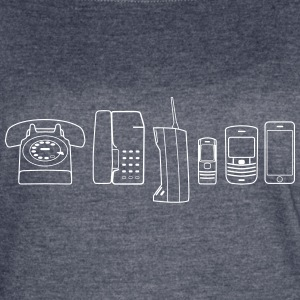 Evolution of Phone - Women's Vintage Sport T-Shirt