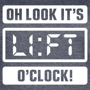 Oh Look It's Lift O'Clock - Women's Vintage Sport T-Shirt