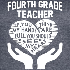 Fourth Grade Teacher T Shirt - Women's Vintage Sport T-Shirt