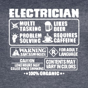 Electrican Multi Tasking Likes Beer T Shirt - Women's Vintage Sport T-Shirt