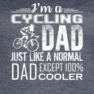 CYCLING DAD LOVE TEE SHIRT - Women's Vintage Sport T-Shirt