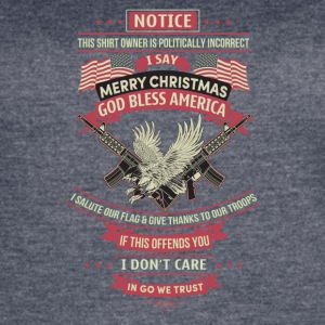 I say merry christmas god bless american - Women's Vintage Sport T-Shirt