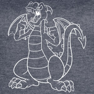 angry_cartoon_dragon_white - Women's Vintage Sport T-Shirt