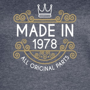 Made In 1978 All Original Parts - Women's Vintage Sport T-Shirt