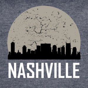 Nashville Full Moon Skyline - Women's Vintage Sport T-Shirt