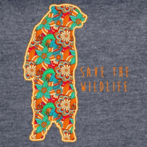 SAVE THE WILDLIFE- BEAR - Women's Vintage Sport T-Shirt