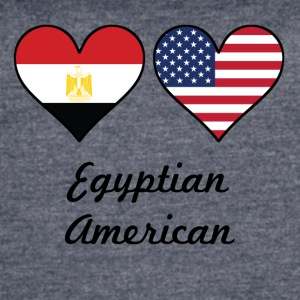 Egyptian American Flag Hearts - Women's Vintage Sport T-Shirt