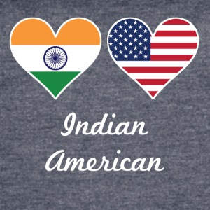 Indian American Flag Hearts - Women's Vintage Sport T-Shirt