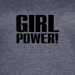 Girl Power Logo Black - Women's Vintage Sport T-Shirt