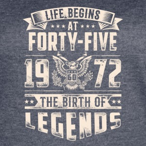 Life Begins At Forty Five Tshirt - Women's Vintage Sport T-Shirt