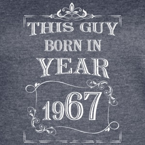 this guy born in year 1967 white - Women's Vintage Sport T-Shirt