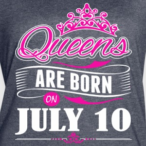 Queens are born on JULY 10 - Women's Vintage Sport T-Shirt