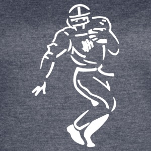 Undefeated Stencil Football - Women's Vintage Sport T-Shirt