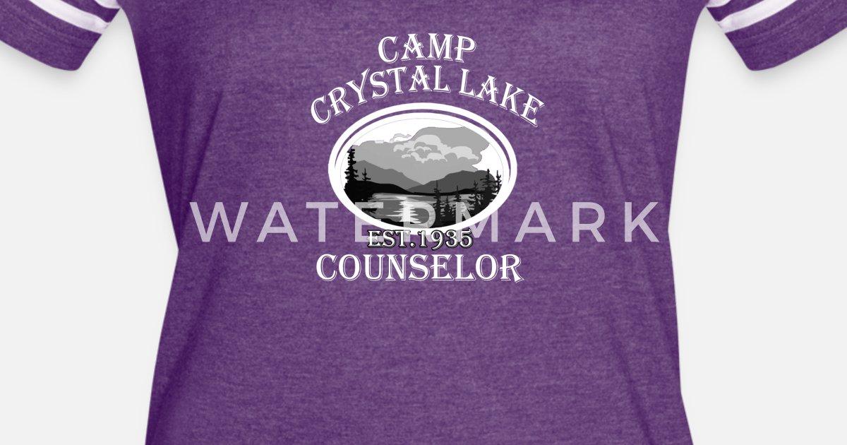 36503307125a Camp Crystal Lake EST. 1935 Counselor Women s Vintage Sport T-Shirt ...