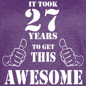 27th Birthday Get Awesome T Shirt Made in 1990 - Women's Vintage Sport T-Shirt