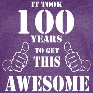 100th Birthday Get Awesome T Shirt Made in 1917 - Women's Vintage Sport T-Shirt