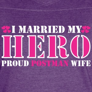 I Married Hero Proud Postman Wife - Women's Vintage Sport T-Shirt