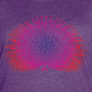 Bright Colorful Peacock - Women's Vintage Sport T-Shirt