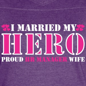 I Married Hero Proud Hr Manager Wife - Women's Vintage Sport T-Shirt