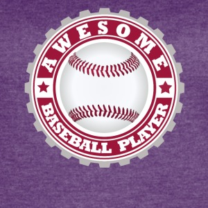 Awesome Baseball player - Women's Vintage Sport T-Shirt